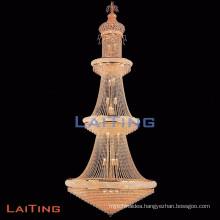 Hot Sale Elegance Luxury Amber Crystal Big Chandelier Baccarat Pendant light