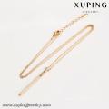 43895 nouveau design collier de filles de mode 18k simple collier de bijoux en alliage de cuivre de luxe