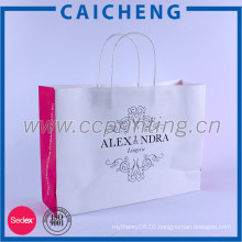 2016 customized printed white kraft paper bag