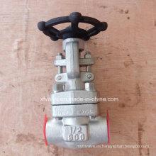 API602 Válvula de compuerta NPT de extremo de rosca F316L de acero inoxidable forjado