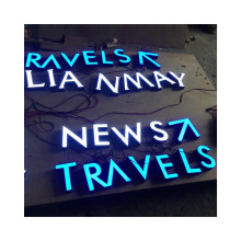 China Manufacturer Supplier Custom Wall Mounted Outdoor Restaurant Store Signage 3D LED Business LOGO Sign