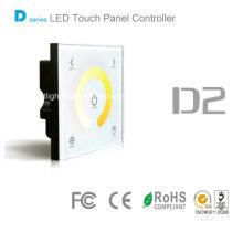 Touch montado na parede LED cor controlador de temperatura ajustável