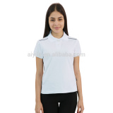 white classic jacquard weave design polo shirt