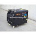 7KW silencioso elétrico trifásico refrigerado a ar do gerador diesel com painel digital