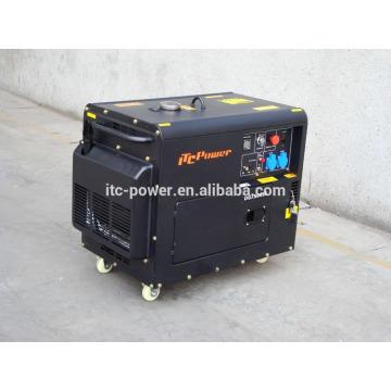 7 кВт бесшумный электрический трехфазный дизельный генератор с воздушным охлаждением с цифровой панелью