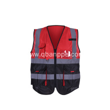new design biocolor vest with reflective tape