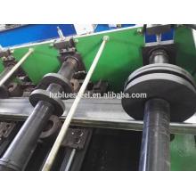 Material de construcción de metal CZUW Omega completo forma de rodillo frío de Purlin que forma la máquina para la venta, Purlin que hace la máquina