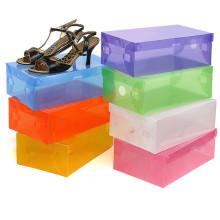 Limpar caixa de sapato / caixas de sapato de plástico transparente com alça (mx-095)