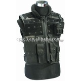 Black Color Multiple Pouches Tactical Vest