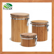 Customize Bamboo Airtight Canister Set for Food Storage