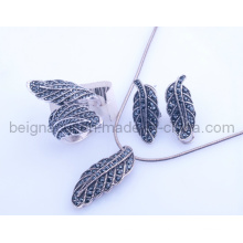 Conjunto de Jóias Fahion Leaf