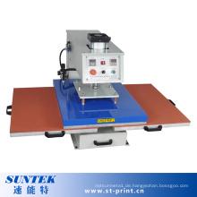 Doppelstationen Pneumatische Wärme Druckmaschine Wärmeübertragung Maschine