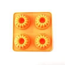 molde redondo de silicona con flor