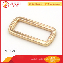 Brilhante ouro cor bolsas fivela hardware com alta qualidade