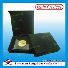 Hochwertige kundenspezifische Antike-Bronzen-Münze der Qualitäts mit Geschenk-Kasten
