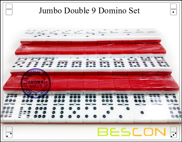 Jumbo Double 9 Domino Set-8