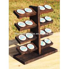 Einzelhandel Store Kommerzielle Display-Tisch Top 5-Tier 16 Stück Portable Dark Solid Holz K-Cup Halter