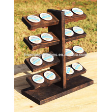 Loja de varejo Mesa de exibição comercial Top 5-Tier 16 peças Portátil titular de madeira de madeira sólida sólida