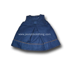 baby girl dark blue denim sleeveless dress