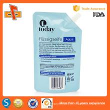 Stand up plastificado laminado de impresión de bolsa de plástico con la tapa de pico para el detergente de lavandería
