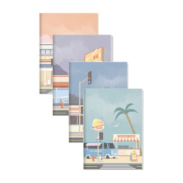 Andstal Anime Roadside Shop Stationary Notebook 72Sheets A5 Notebook Notebooks For Students
