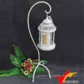 Antique White Metal Candle Holder Standing