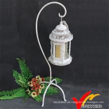 Antique White Metal Kerzenständer Stehend