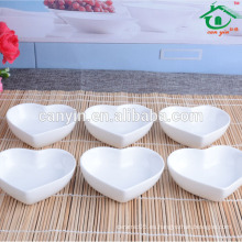 Plato de salsa de soja porcelana blanca personalizada