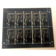 Double face PCB FR4 1.6mm 1OZ noir à souder ENIG