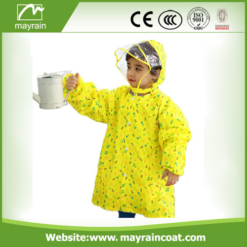 Coloful Polyester Child Raincoat