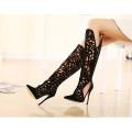 Новый черный сексуальный Святить из обуви на высоком каблуке (НС 033)