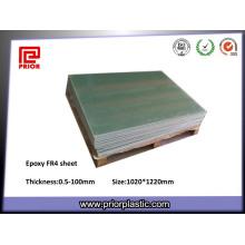 Folha laminada de pano da fibra de vidro da cola Epoxy de G10 Fr4