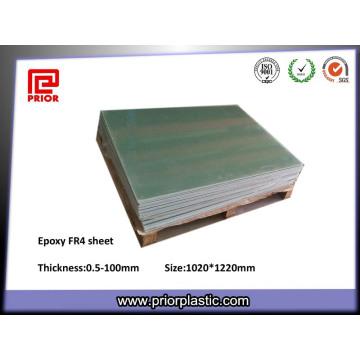 Feuille verte de fibre de verre d'isolation de Fr-4 d'isolation