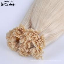 Cheveux de Russie 100% cheveux humains remy je pointe des extensions de cheveux doubles dessinés