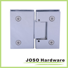 Brushed Nickel Adjustable 180 Degree Glass-to-Glass Hinge