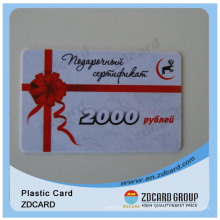 Supermarket Discount Gift Card Plastic Card
