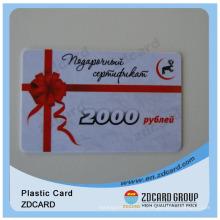Cartões Eco-Friendly do PVC / cartões do ABS Cartão do presente
