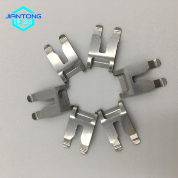 small bended stainless steel spring clips for electrics