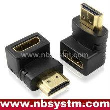 HDMI adaptador de ângulo de 90 graus Um tipo macho para fêmea