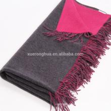 100% кашемир двойной лицо монгольского кашемира бросок одеяло