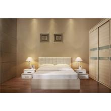 Venta al por mayor MFC blanco dormitorio moderno gabinete de tela