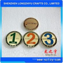 Monedas Colectivas de Medalla de Cobre de Oro, Medallón de Cobre Conmemorativo de Templo, Números de Grabado de Recuerdo de Logotipo Moneda de Insignia