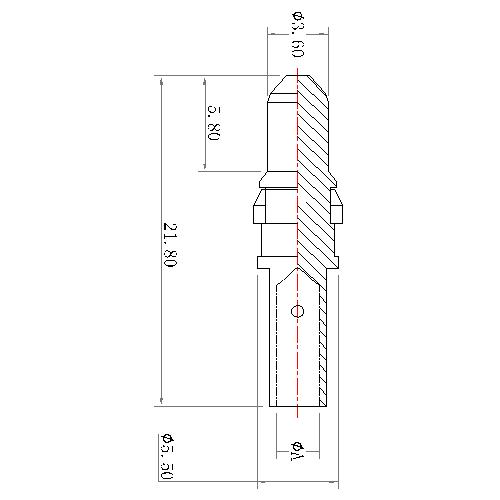 CP11M-XXX 6 POWER PIN CRIMP MALE CONTACT 30Aor20Aor10A(work in coaxial)