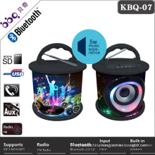 Factory made 10 fashion outlook color designs cd player with wireless bluetooth speaker
