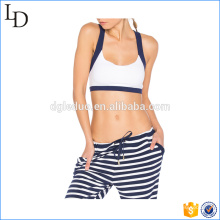 Cross strappy yoga sports bra soft wear of yoga gym fitted bra