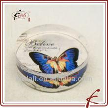 Rodada moda vidro paperweight