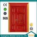 Puerta de madera con bisagras de PVC macizo