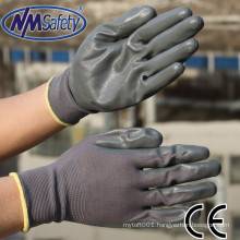 NMSAFETY nm safety gloves 13 gauge nylon knitted liner nitrile work gloves