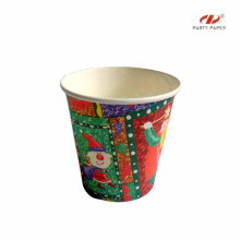 Promotional PE Coated Paper Cups With Christmas Fancy
