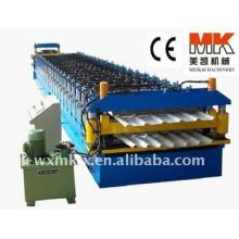 Gewölbte Stahldoppelrolle, die Maschinen- / Metallüberdachungs-Blatt-Welle bildet Maschinen bildet